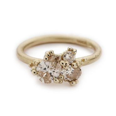 Ruth Tomlinson, Contrast Cut Diamond Ring In 14ct Yellow Gold, tomfoolery