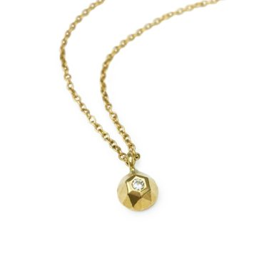 Margaux Clavel, 18ct Yellow Gold Rose Pendant, Tomfoolery