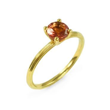 Margaux Clavel, 18ct Yellow Gold Circa Pink Tourmaline Solitaire Ring, Tomfoolery