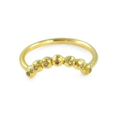 Margaux Clavel, 18ct Yellow Gold Ana Crown Champagne Diamonds Ring , Tomfoolery