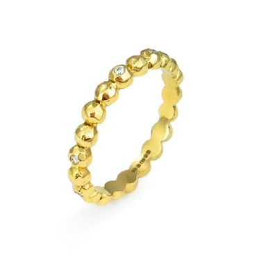 Margaux Clavel, 18ct Yellow Gold Ana Eternity Band Diamond Ring, Tomfoolery