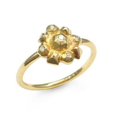 Margaux Clavel, 18ct Yellow Gold Helios Diamond Ring, Tomfoolery
