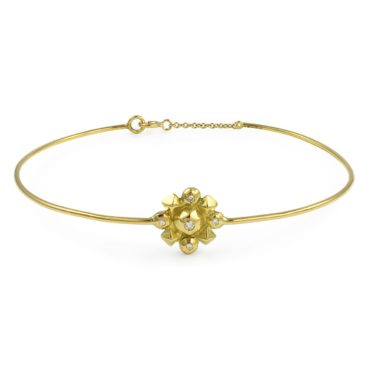 Margaux Clavel, 18ct Yellow Gold and Diamond Helios Bracelet, Tomfoolery
