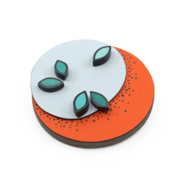 Tomfoolery, Leaf and Dot 3D Brooch, Emily Kidson