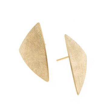 tomfoolery, Gold-Plated Triangle Disc Earrings, deco echo