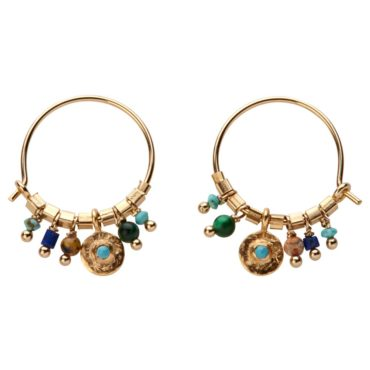 Tomfoolery; Iva Turquoise Stone Earrings, 5th Octobre