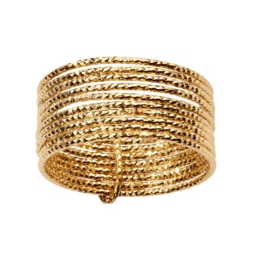 Tomfoolery; 24ct Gold Plated 10 Loop Ring, 5th Octobre