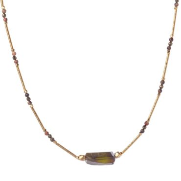 Tomfoolery, Green Tourmaline Mille Chain Necklace, 5th Octobre
