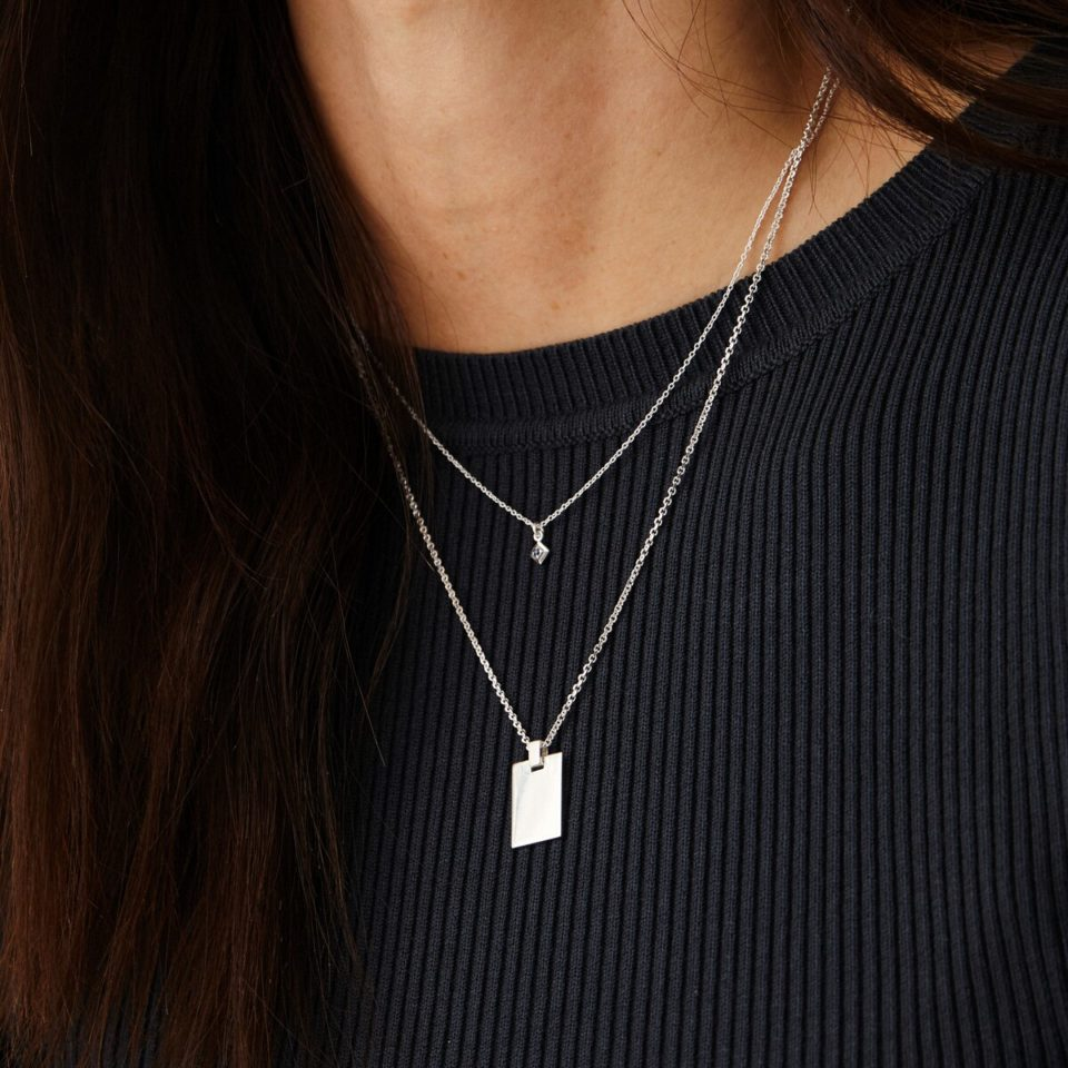 Engravable personalised pendant by Tableau available to shop online at tomfoolery London | www.tomfoolerylondon.co.uk