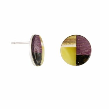 tomfoolery: Amber & Wood with Silver Studs by Amberwood