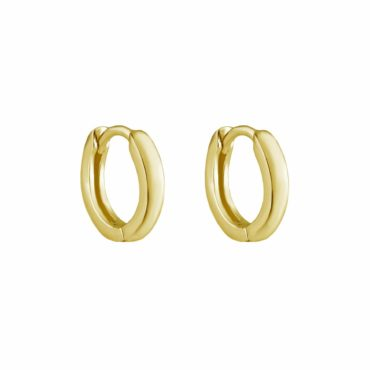 Tomfoolery, Gold Plated Silver Fold Hoop, Tf Hoops