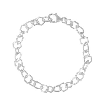 Tomfoolery; Curved Multi Shape Chain Bracelet, Everyday by Tomfoolery