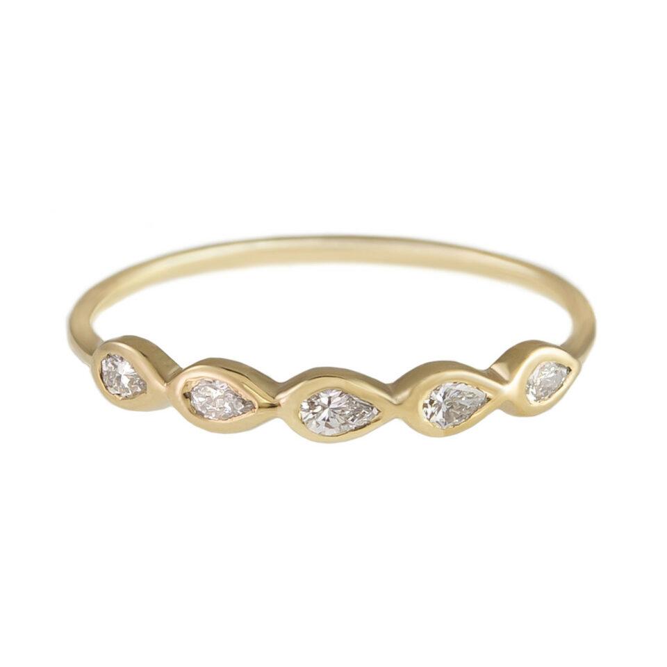 metier by tomfoolery: 5 stone diamond ring