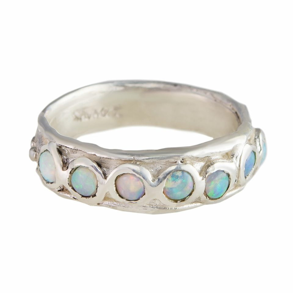 Millie Savage, Seven Opal Silver Ring, tomfoolery