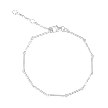 Tomfoolery; Dainty Silver Chain Bracelet, Everyday by Tomfoolery