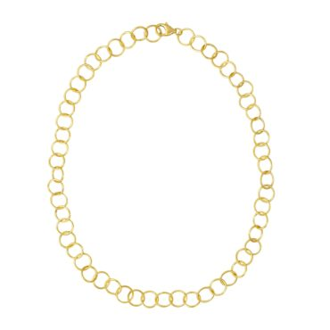Tomfoolery: Gold-Plated Silver Round Wire Medium Links Chain Necklace , Everyday by tomfoolery