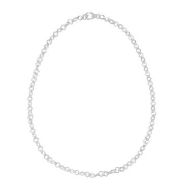 Tomfoolery: Silver Round Wire Diamond Links Chain Necklace, Everyday by tomfoolery