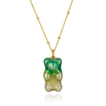 Maggoosh, Ombre Green Gummy Bear Necklace, Tomfoolery