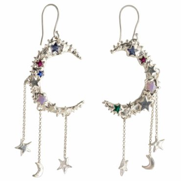Millie Savage, Galaxy Chandetlier Earrings, tomfoolery