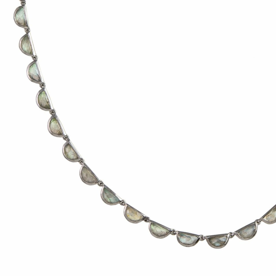 Labradorite Riviere Scallop Necklace, tomfoolery, Nak Armstrong