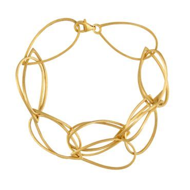 Tomfoolery, Gold Plated Silver Tear Chain Bracelet, Lindenau