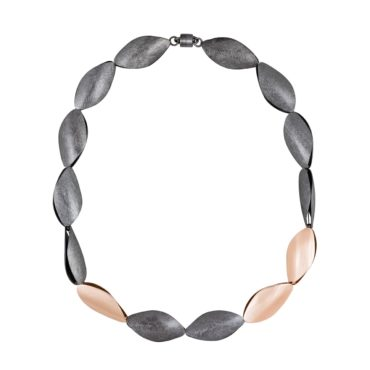 Tomfoolery, Oxidised Silver and Rose Gold Plated Statement Necklace, Lindenau