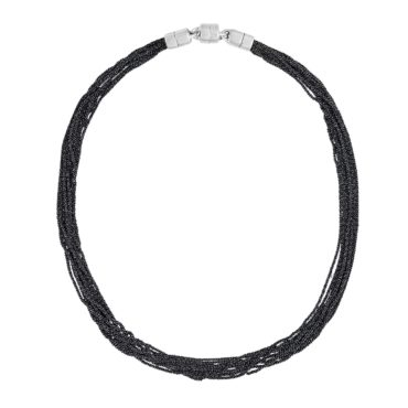 Tomfoolery, Rhodium Plated Silver Multi Chain Necklace, Lindenau