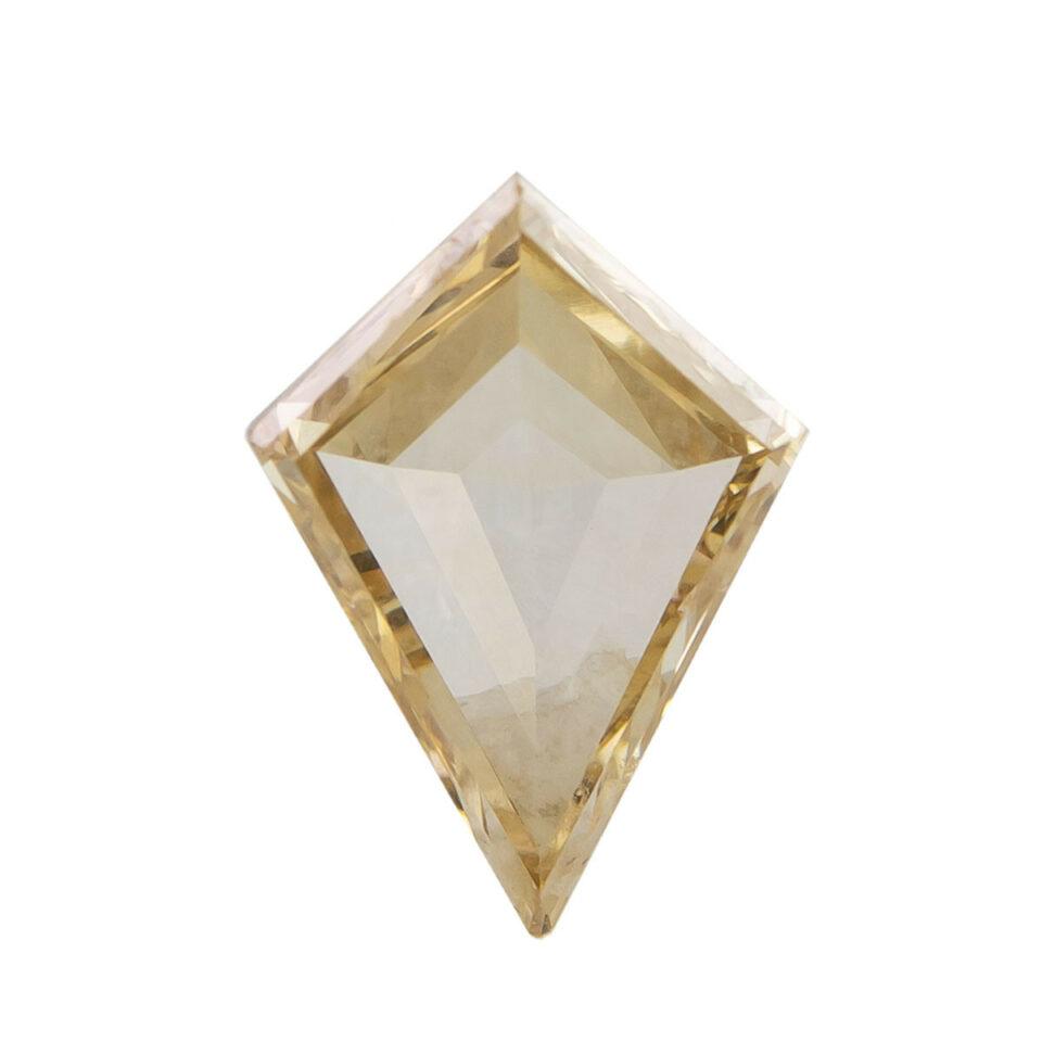 Tomfoolery,0.76ct Champagne Kite Rose Cut Diamond, tf stones