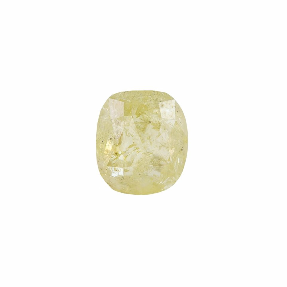 Tomfoolery,1ct Yellow Cushion Rose Cut Diamond, tf stones