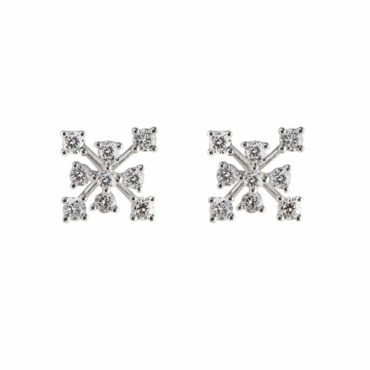Constellation Diamond Earrings by tf diamonds. Available at tomfoolery london