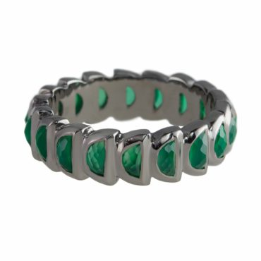 Green Onyx Worm Band Ring , Nak Armstrong, tomfoolery