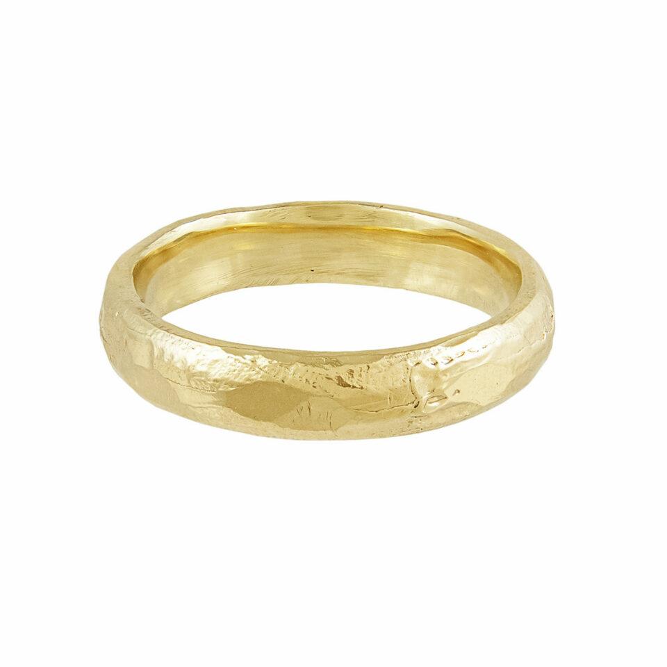 tomfoolery, Ellis Mhairi Cameron, 14ct Yellow Gold 4mm Wedding Ring