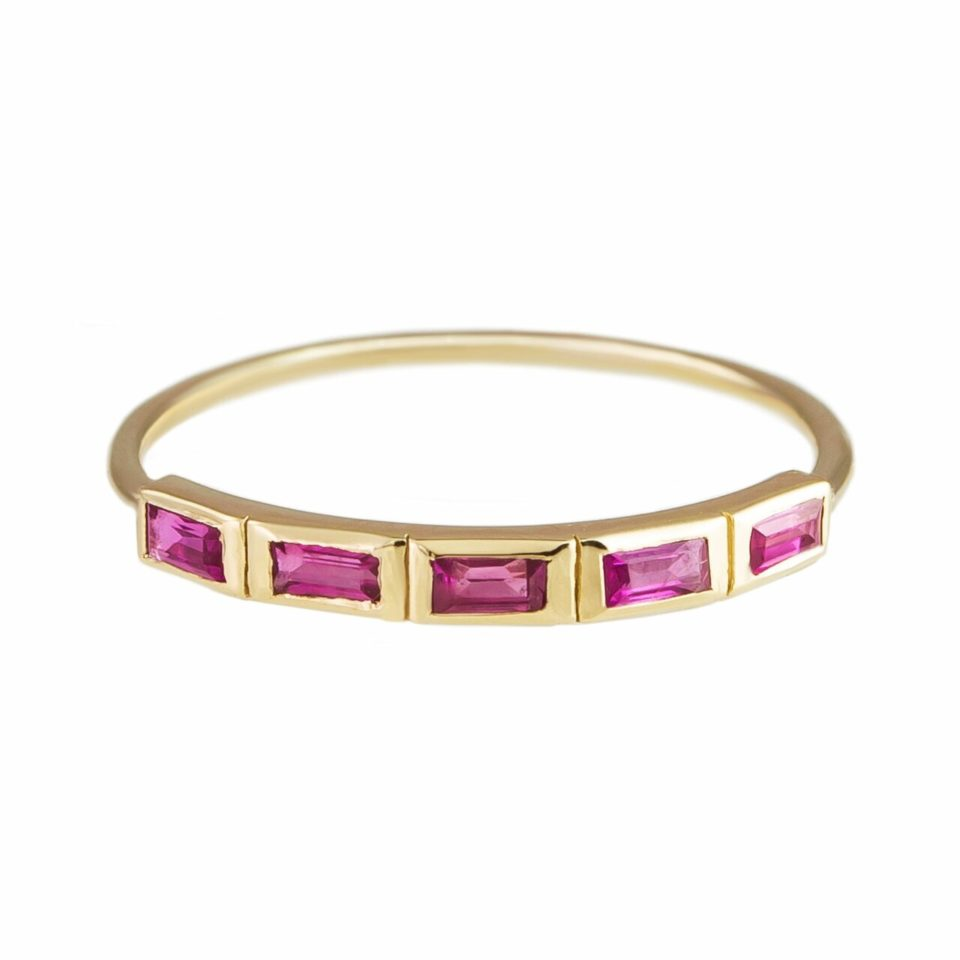 metier by tomfoolery: 5 stone ruby ring
