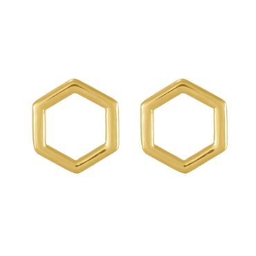 tomfoolery: gold matt Round Wire Kite Studs, Everyday by tomfoolery