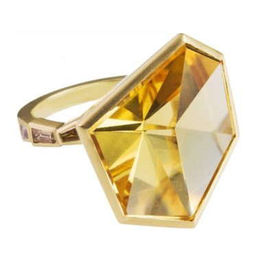 Muse by tomfoolery, One of A Kind Art Ring Fancy Cut Citrine Art Ring, tomfoolery