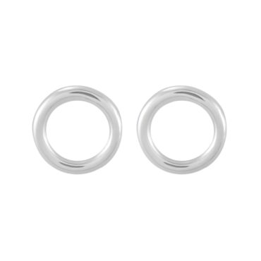tomfoolery: silver polished Round Wire Large Circle Studs, Everyday by tomfoolery