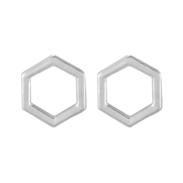 tomfoolery: Curve Hexagon Studs, Everyday by tomfoolery