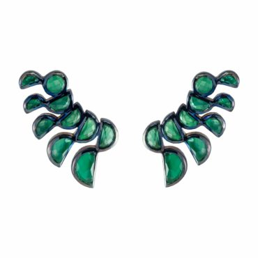 Green Onyx Lobster Stud Earrings, tomfoolery, Nak Armstrong