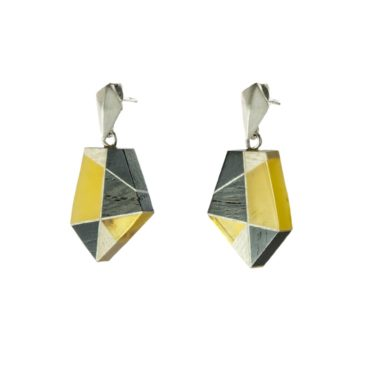tomfoolery: Amber & Wood with Silver Drop Earrings by Amberwood