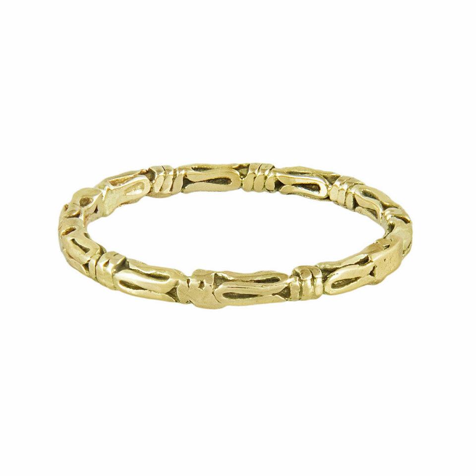 Ellis Mhairi Cameron: 14ct Yellow Gold Textured 2mm Wedding Ring, tomfoolery,