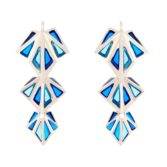 Tomfoolery; Crystal Aquarius Ombre Clara Triple Drop Earrings, Simon Harrison