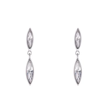 Tomfoolery, Minerva Navette Crystal Drop Earrings, Simon Harrison