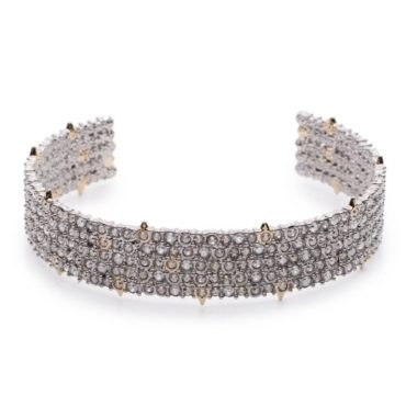 Tomfoolery, Alexis Bittar,Pave Crystal Cuff Bracelet