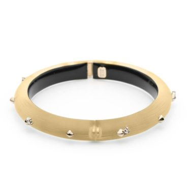 Tomfoolery, Alexis Bittar, Yellow & Gold Studded Hinged Bracelet