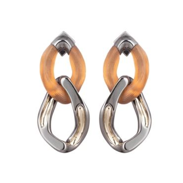 Tomfoolery: Alexis Bittar,Orange Double Drop Link Earrings