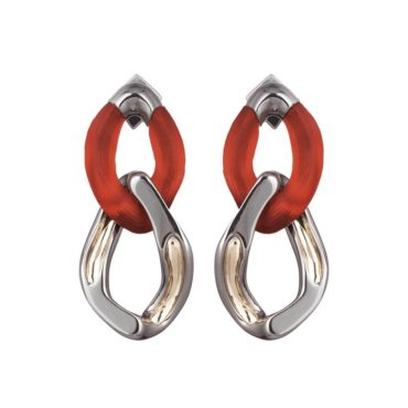 Tomfoolery: Alexis Bittar, Red Double Drop Link Earrings