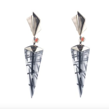 Alexis Bittar, Tomfoolery London, Dangling Futurist Drop Earrings