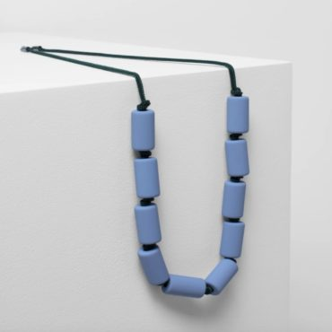 tomfoolery, elk,Blue & Green Doft Necklace
