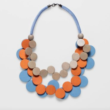 tomfoolery, elk, Walnut & Flame & Preppy Blue Doft Necklace