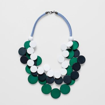 tomfoolery, elk,Green, Black & White Doft Necklace